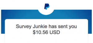 Survey Junkie payout