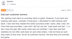 One star review